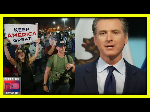California Protesters Storm the Streets, Gather Outside Gavin Newsom's House in Defiance of Curfew