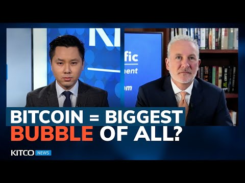 Peter Schiff: Bitcoin still going to 'collapse'; the 'death spiral' of inflation coming (Part 1/2)