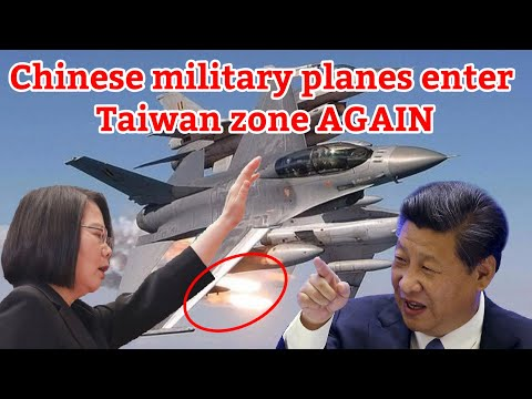 China military planes enter taiwan zone AGAIN.